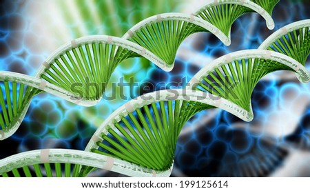 Dna in abstract background  - stock photo