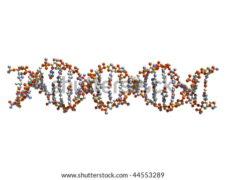 DNA isolated on white background - stock photo