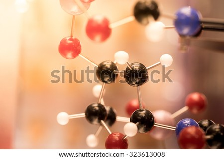 DNA, Molecule, Chemistry in laboratory lab test - stock photo