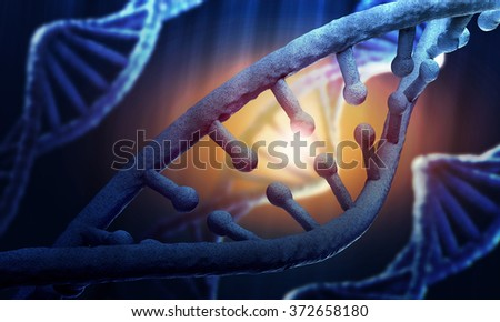 DNA molecule conceptual image - stock photo