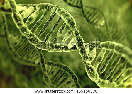 DNA molecules - stock photo