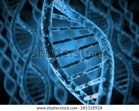 DNA Molecules - stock photo