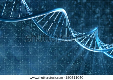 DNA on a beautiful background - stock photo