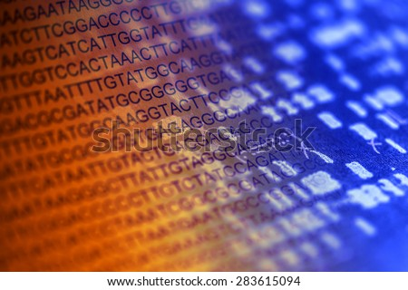 DNA sequence. Science concept. - stock photo