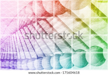 DNA Sequencing with Genetic Helix Formula as Art - stock photo