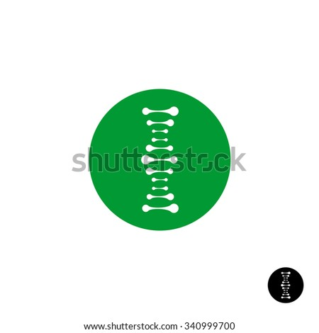 DNA simple science logo with metaball style elements - stock photo