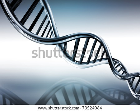 DNA strands on abstract medical background