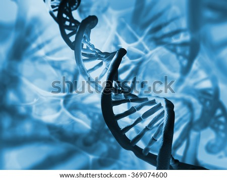DNA structure - stock photo