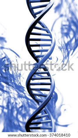 DNA structure in digital background