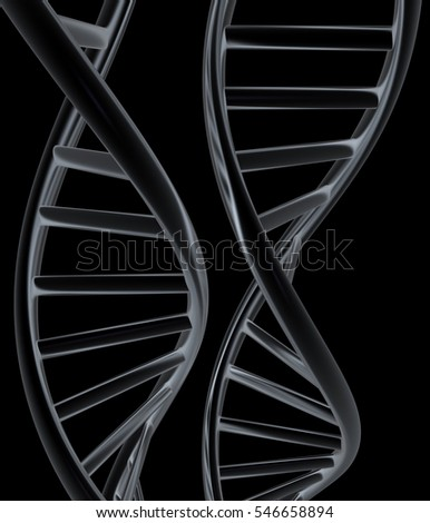 DNA structure model. 3d illustration