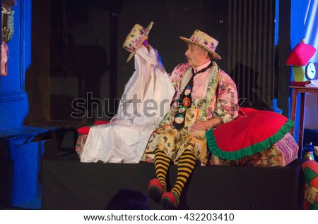 DNIPRO, UKRAINE - MAY  28, 2016: Uncle Clown and Mouse Mytsik