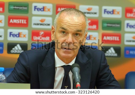 DNIPROPETROVSK, UKRAINE - SEPTEMBER 17, 2015: Head Coach of  SS Lazio