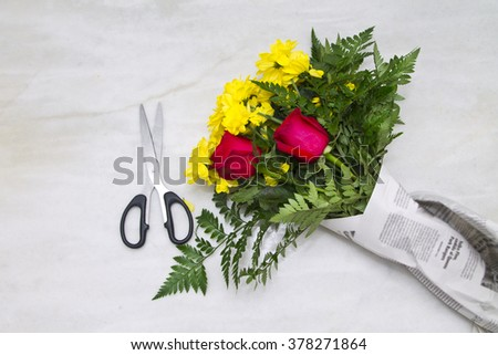 do bouquet of roses - stock photo