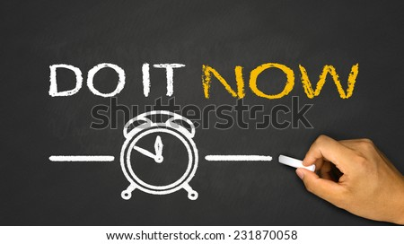 do it now on blackboard