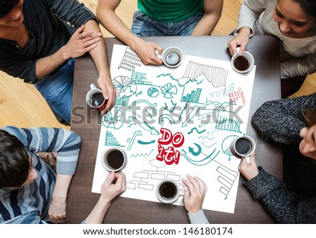 Do it written on a poster with drawings of charts during a brainstorm - stock photo