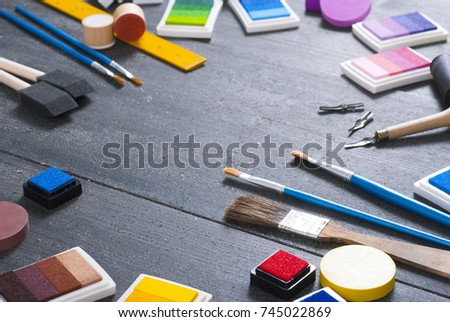 Do yourself art craft tools stock photo royalty free 745022869 do it yourself art and craft tools solutioingenieria Gallery