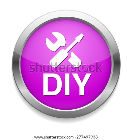 do it yourself button - stock photo