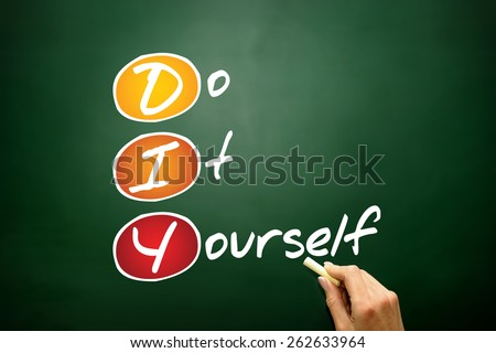 Do It Yourself (DIY), business concept acronym on blackboard - stock photo