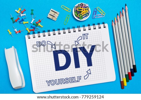Do it yourself stock images royalty free images vectors do it yourself notes in the notebook on the desk in the office business concept solutioingenieria Image collections