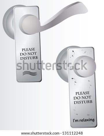 Do Not Disturb sign on door - stock photo