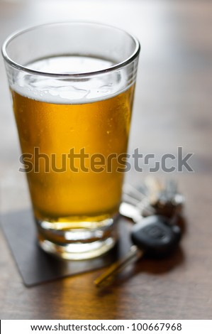 Do not drink and drive - stock photo