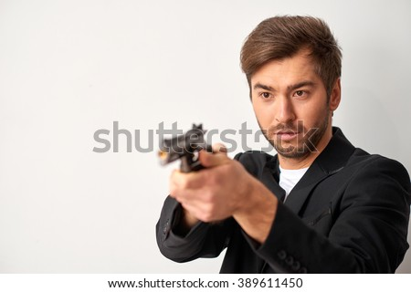 Do not mess with bad boy. - stock photo