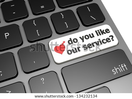 Do you like our service - stock photo