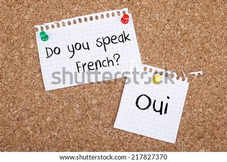 Do You Speak French - stock photo