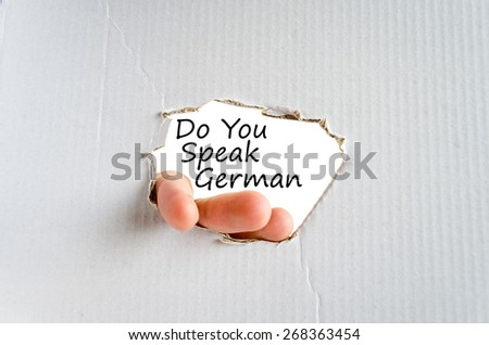 Do You Speak German Concept Isolated Over White Background - stock photo