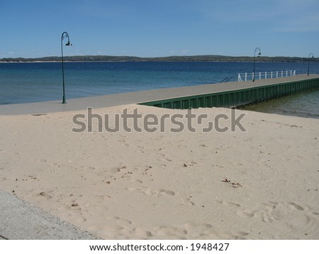 Dock Along the Sandy Beach in Paradise