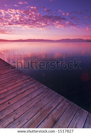 Dock in Lake Tahoe - stock photo
