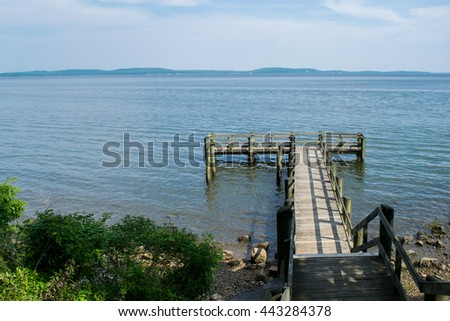 Dock in Perryville Point, Maryland - stock photo