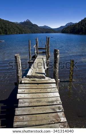 Dock on the lake - stock photo