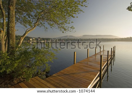 Dock on the water - stock photo