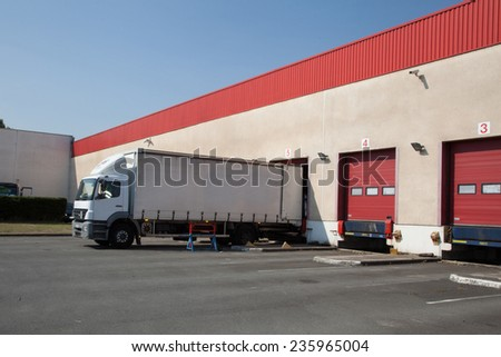 docks truck - stock photo