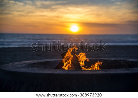 Dockweiler State Beach, Los Angeles, CA - stock photo