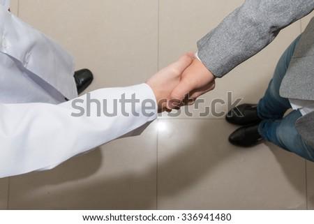 Doctor Examines Leg Heavy Patient Edema Stock Photo