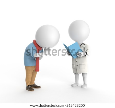 Doctor and ill patient  - stock photo