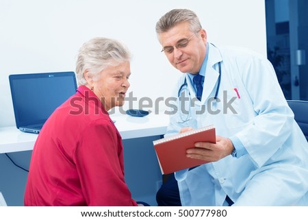 Doctor and Patient,colored photo