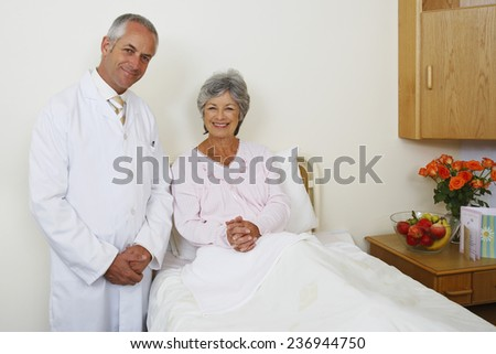 Doctor and Senior Patient - stock photo