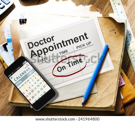 Doctor Appointment Calendar Meeting Event On Time Concept - stock photo