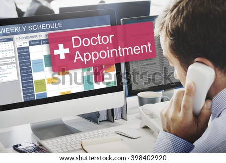 Doctor Appointment Diagnosis Treatment Medical Concept - stock photo