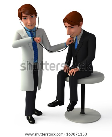 Doctor check up the patient - stock photo