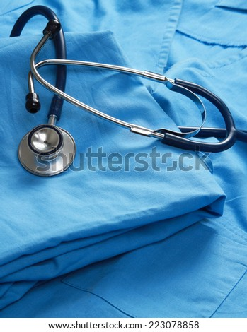 Doctor coat with stethoscope.