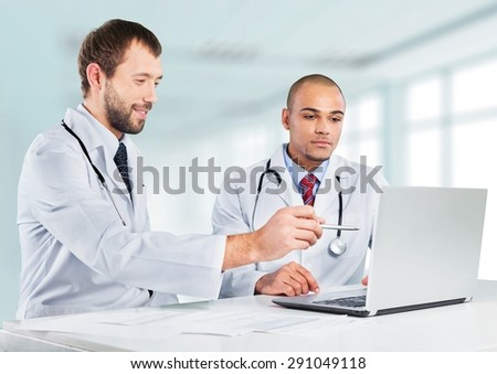 Doctor, Computer, Healthcare And Medicine. - stock photo