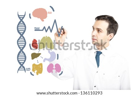 Doctor Drawing Medicine Organs Symbol Stock Photo Download Now