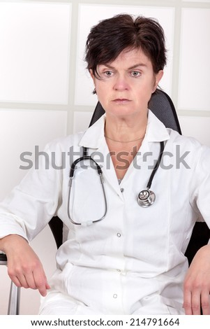 Doctor in thought - stock photo