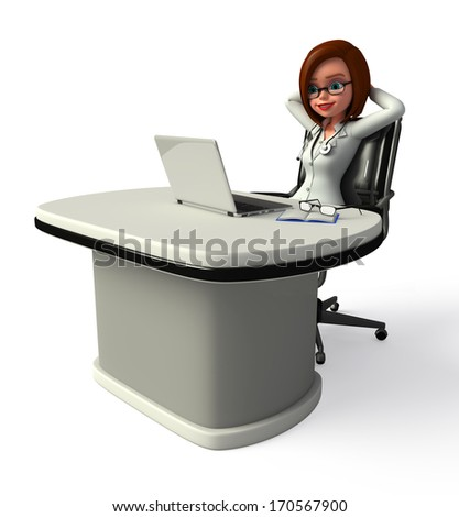 Doctor is relax in clinic - stock photo