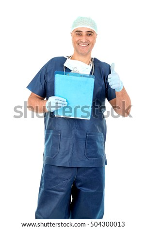 Doctor isolated against a white background