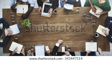 Doctor Meeting Teamwork Diagnosis Health Care Concept - stock photo